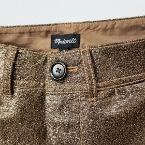MADEWELL Langford Wide-Leg Metallic Crop Pants